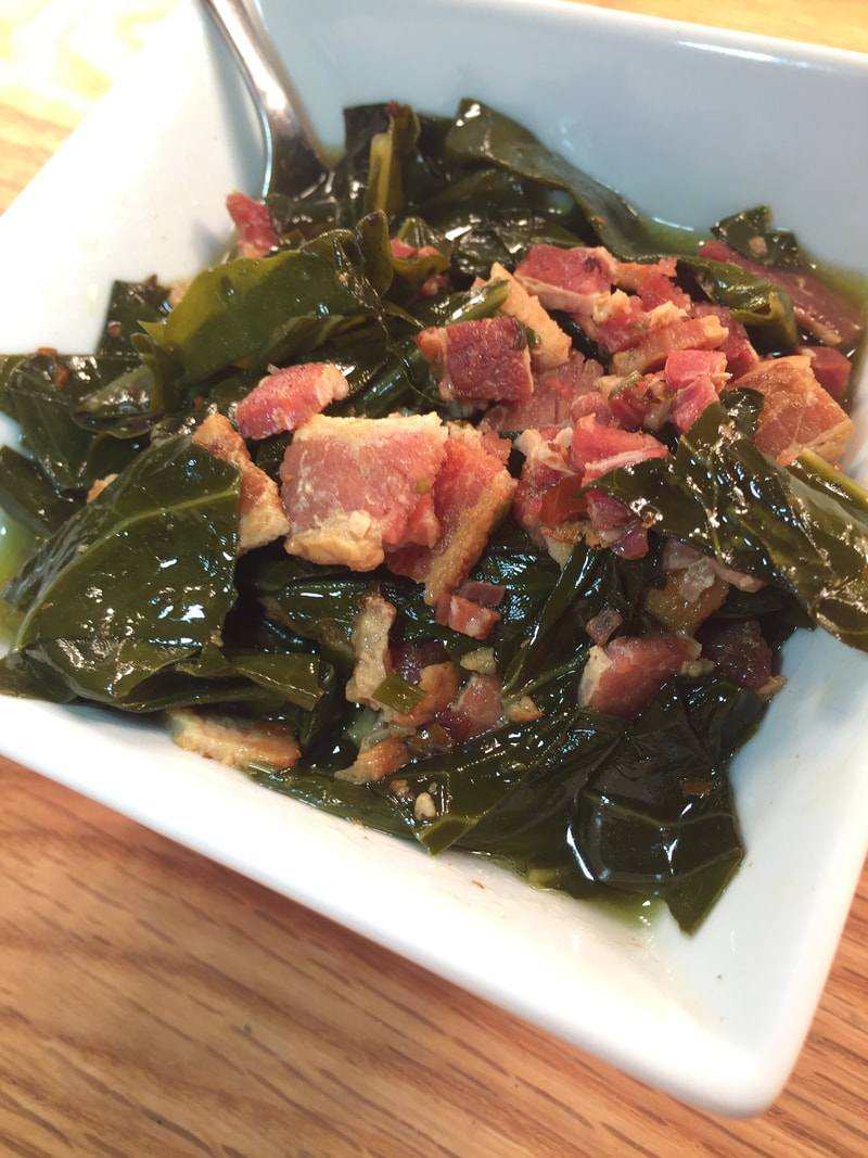 low fodmap bacon collards green